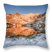 June Snowfall At Angel Lake Throw Pillow