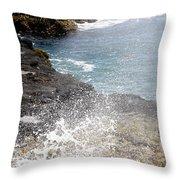 Kauai Spray Throw Pillow