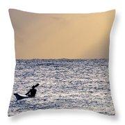 Kayak At Dawn Throw Pillow