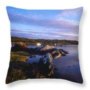Kenmare Bay, Dunkerron Islands, Co Throw Pillow