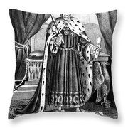 King Andrew The First Throw Pillow