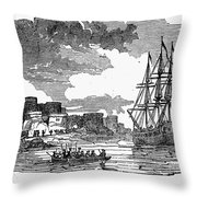 King Georges War, 1745 Throw Pillow
