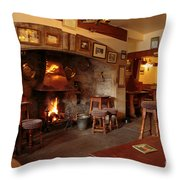 Kings Head Pub Kettlewell Throw Pillow by Louise Heusinkveld