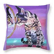 Kitten Image Throw Pillow
