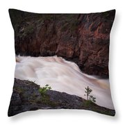 Kiutakongas At Oulankajoki Throw Pillow