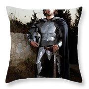 Knight In Shining Armour Throw Pillow by Yedidya yos mizrachi