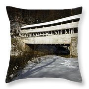 Knox Covered Bridge Throw Pillow