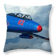 L-29 Delfin Standard Jet Trainer Throw Pillow