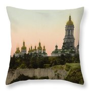 La Lavra - Kiev - Ukraine - Ca 1900 Throw Pillow