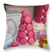 Laduree Macarons Throw Pillow