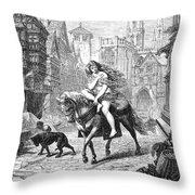 Lady Godiva (11th Century) Throw Pillow