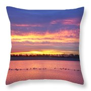 Lagerman Reservoir Sunrise Throw Pillow