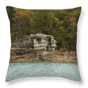 Lake Superior Pictured Rocks 49 Throw Pillow