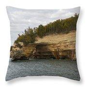Lake Superior Pictured Rocks 50 Throw Pillow