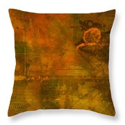 Landscape Of Mars Throw Pillow