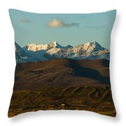 Landscape Of The Highlands And The Cordillera Real. Republic Of Bolivia. Throw Pillow