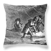 Last Of The Mohicans, 1872 Throw Pillow