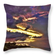 Layered Clouds Throw Pillow