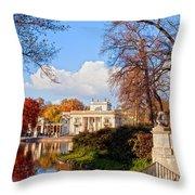 Lazienki Park In Warsaw Throw Pillow