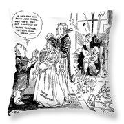 League Of Nations Cartoon Throw Pillow