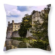 Leeds Castle Kent England Throw Pillow