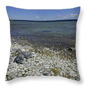Leelanau Michigan Beach Throw Pillow