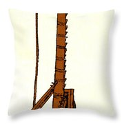 Leonardo Da Vincis Lifting Gear Throw Pillow by Science Source