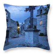 Les Baux Iron Cross Throw Pillow