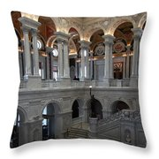 Library Of Congress - Washington D C Throw Pillow