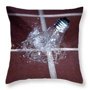 Light Bulb Smashing Throw Pillow