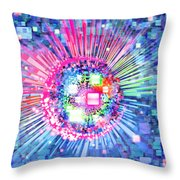 Lighting Effects And Graphic Design Throw Pillow by Setsiri Silapasuwanchai