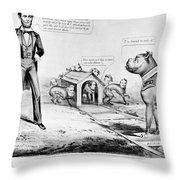 Lincoln: Cartoon, 1864 Throw Pillow