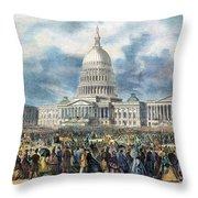 Lincoln Inauguration, 1865 Throw Pillow