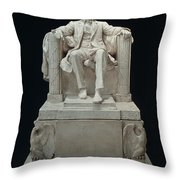 Lincoln Memorial: Statue Throw Pillow