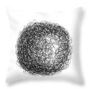 Line 5 Throw Pillow by Rozita Fogelman