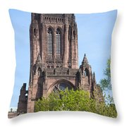 Liverpool Anglican Cathedral Throw Pillow