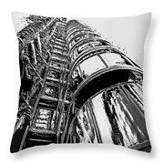 Lloyds Building Central London  Throw Pillow