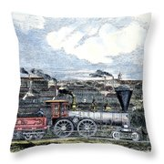 Locomotive Factory, C1855 Throw Pillow