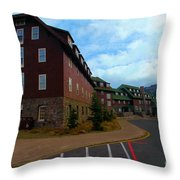 Lodge On The Crater Throw Pillow