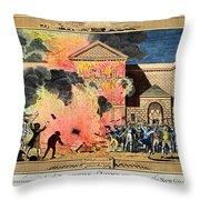 London: Gordon Riots, 1780 Throw Pillow
