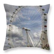 London Skyline Edf Eye  Throw Pillow