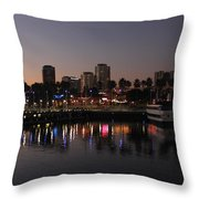 Long Beach Harbor Throw Pillow
