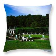 Longwood Gardens Fountain Garden Throw Pillow
