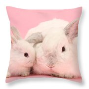 Lop Rabbits Throw Pillow