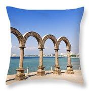 Los Arcos Amphitheater In Puerto Vallarta Throw Pillow