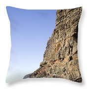 Los Gigantes Cliffs Throw Pillow