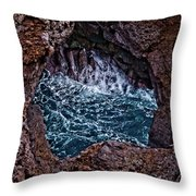 Los Hervideros Throw Pillow