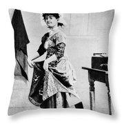 Lotta Crabtree (1847-1924) Throw Pillow