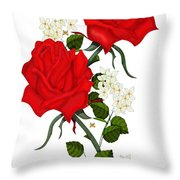 Love Is Like A Red Red Rose Throw Pillow