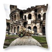 love locks in Rome Throw Pillow